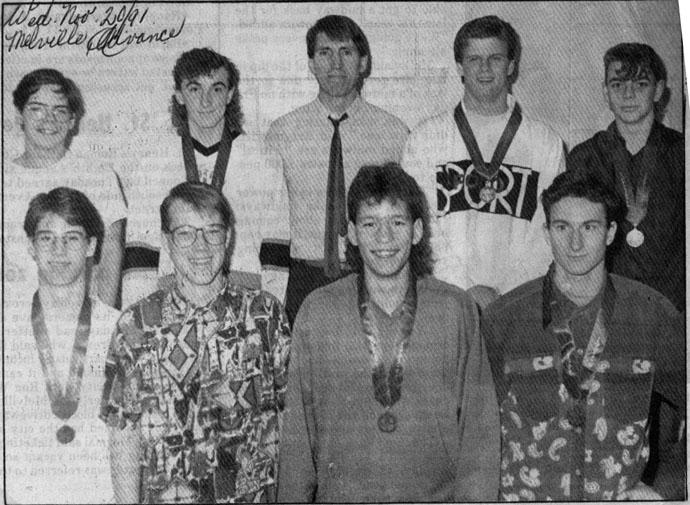 Melville Cobras 1991 4A V'ball Bronze Medals in Kindersley