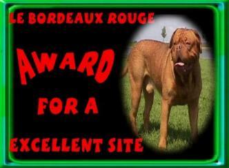 LE BORDEAUX ROUGE FOR A EXCELLENT SITE.