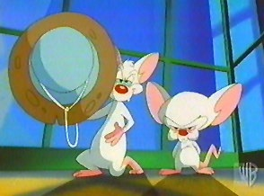 Pinky and the Brain with Freeze Gun