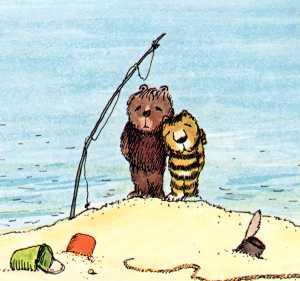 Die geschichte wie der kleine bär und der kleine tigerdas glück der