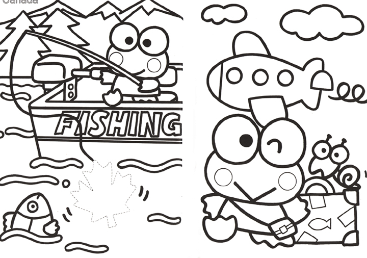 free keroppi coloring pages - photo #43