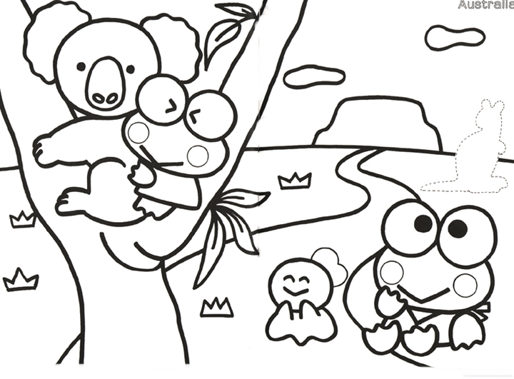 free keroppi coloring pages - photo #40