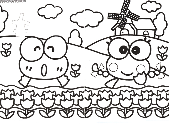 free keroppi coloring pages - photo #22