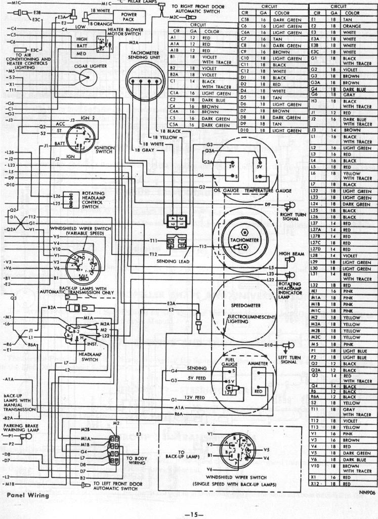 66 67 Dodge Charger Wiring - Wiring Diagram