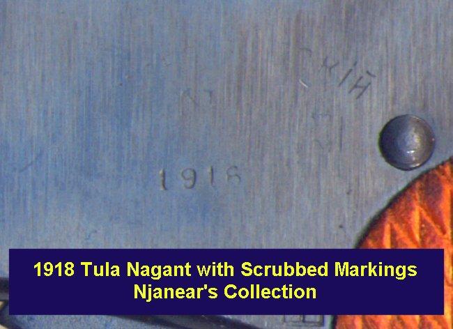 'Scrubbed' Markings - 1918 Tula