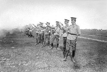 Russian Officers firing Nagants