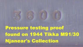 Pressure proof found on Tikka M91/30