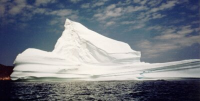 The iceberg aground off Ochre Pit