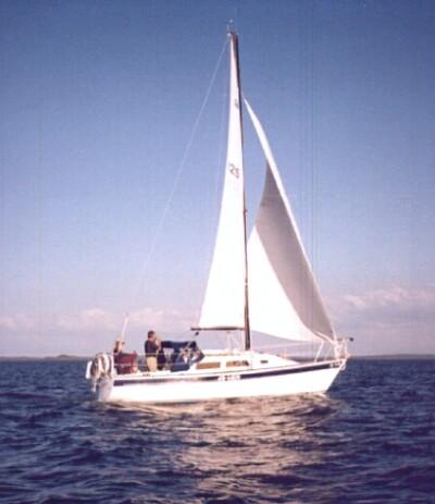 Leslie, Wayne, Roxanne and I aboard Jo-Lain (1998)