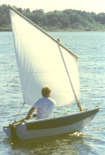 The Rachel sail/motor/row dinghy