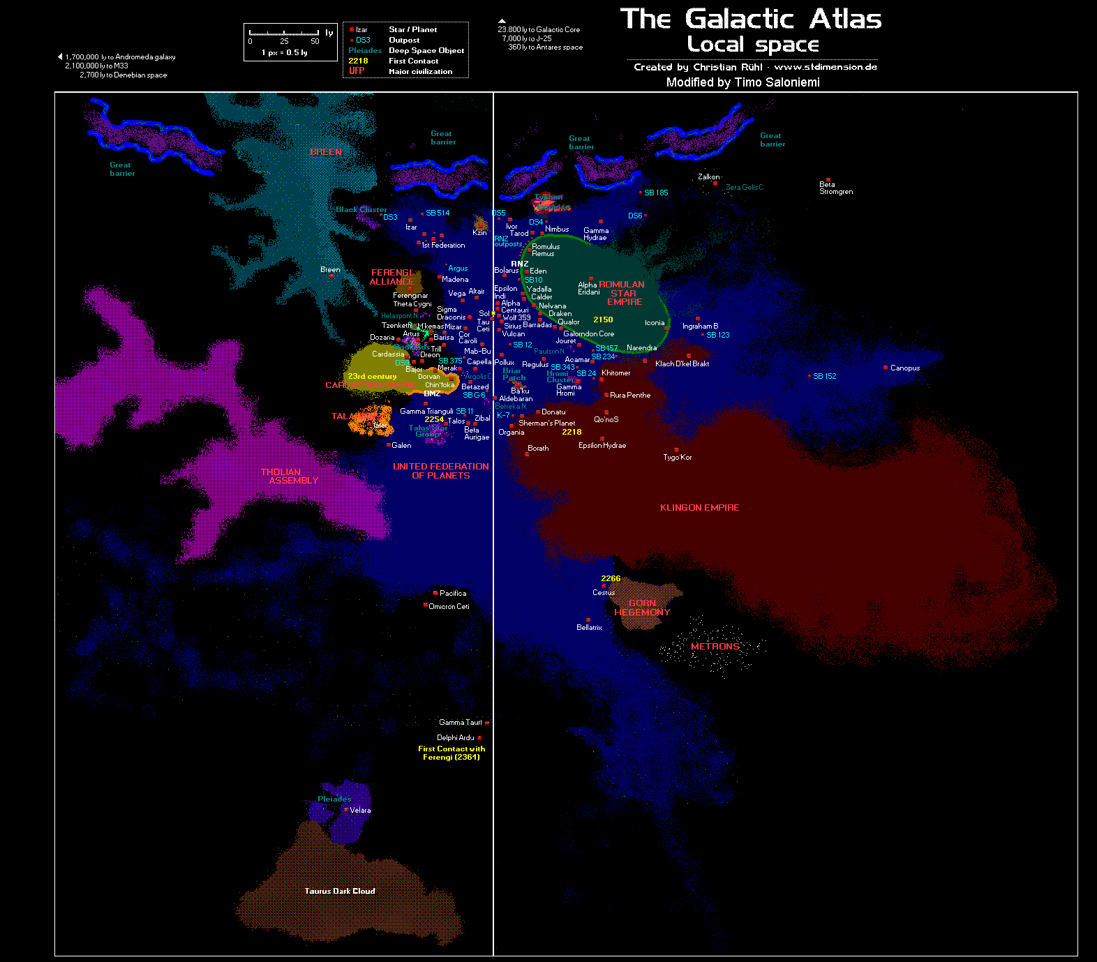 check out this awesome map of the entire star trek universe does
