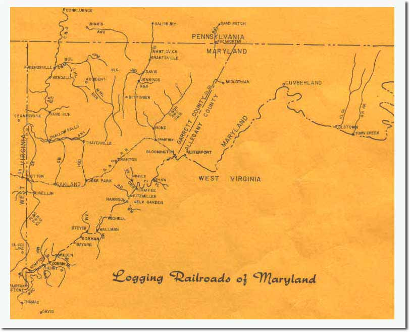 Western Maryland Railway Maps
