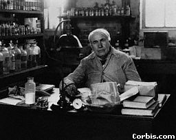 Thomas Edison in the lab